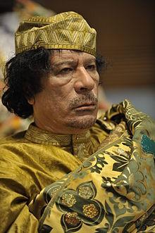 Mouammar Kadhafi à un sommet de l'Union Africaine.  Crédit photo: wikipedia.org